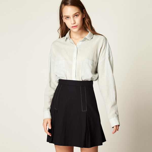 pleats mini shirt